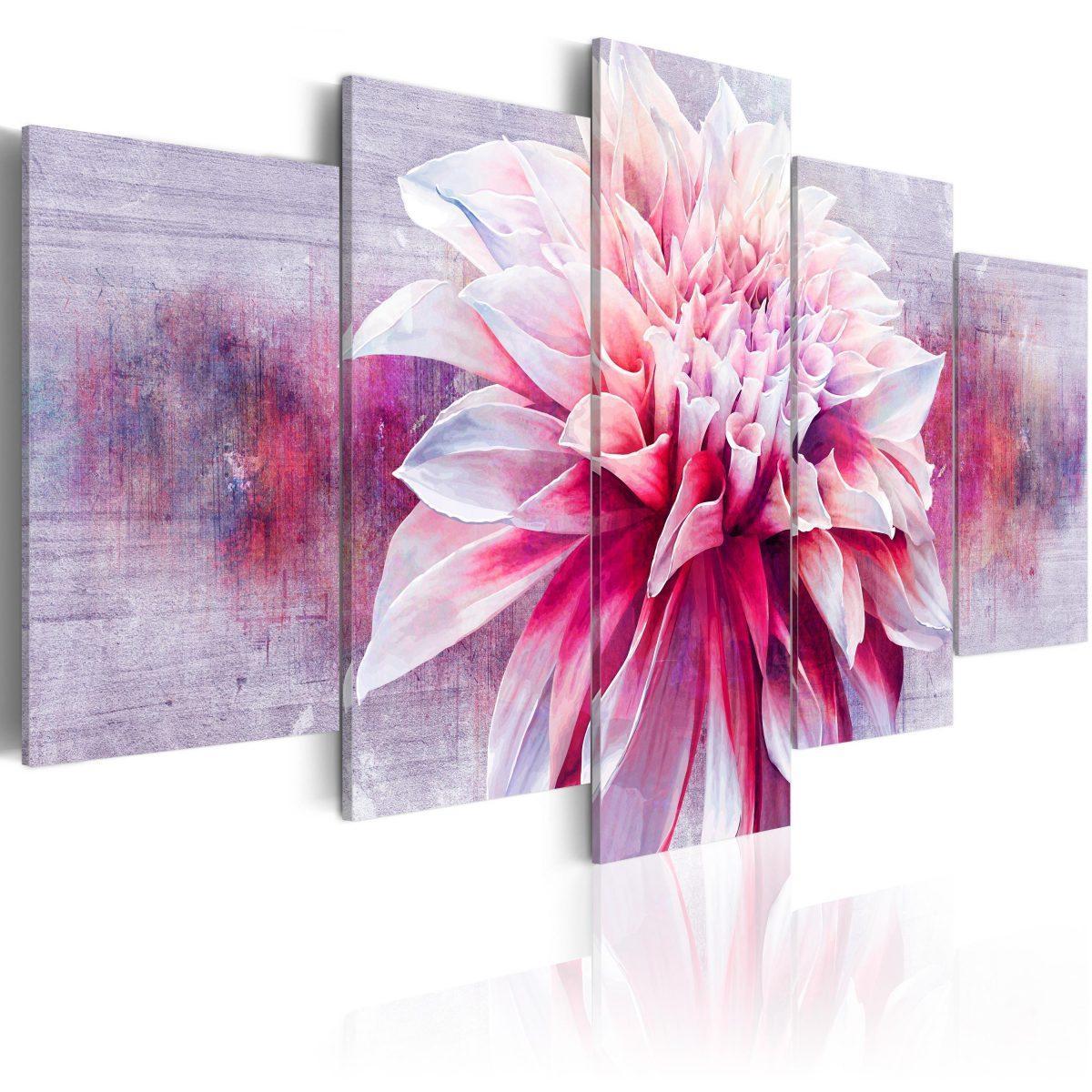 Canvas Tavla - Violet Dahlia - 100x50