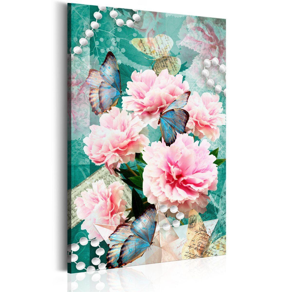 Canvas Tavla - Written in Flowers - 80x120