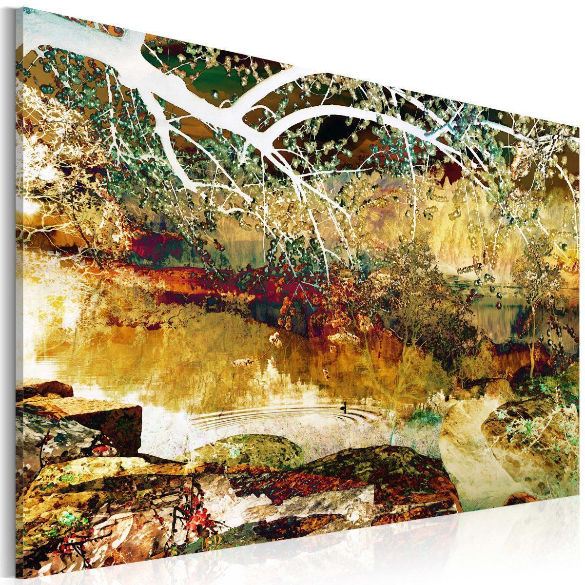 Canvas Tavla - park: abstract - 90x60