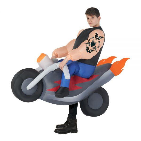 Carry Me Åkande Motorcykel Barn Maskeraddräkt - One size