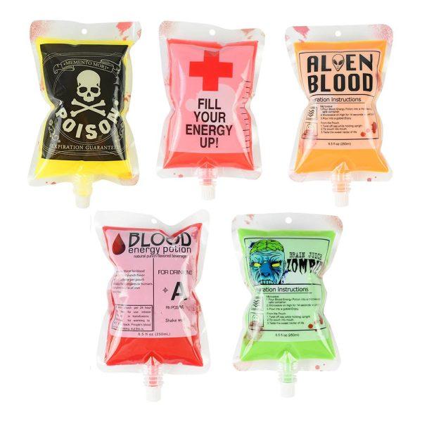 Halloween Blodpåsar för Dryck - 5-pack