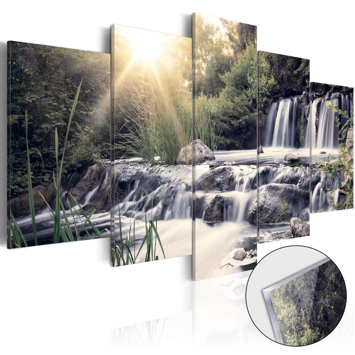 Tavla i akrylglas - Waterfall of Dreams - 200x100