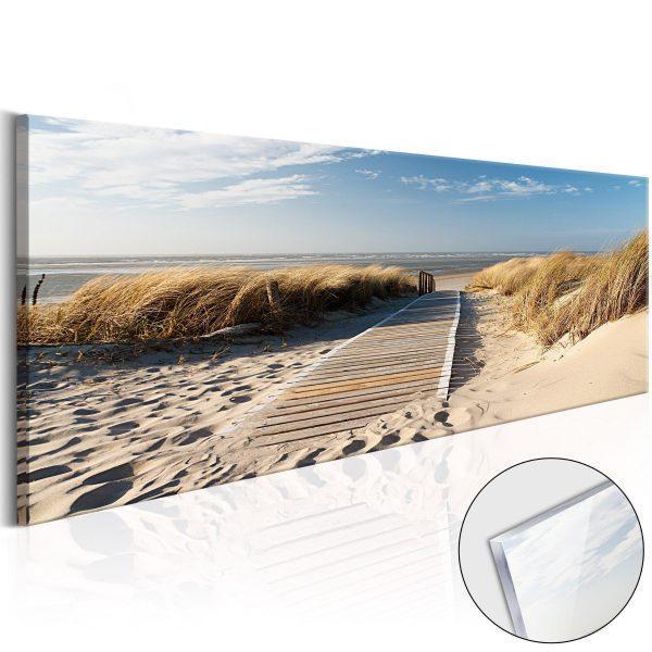 Tavla i akrylglas - Wild Beach - 120x40