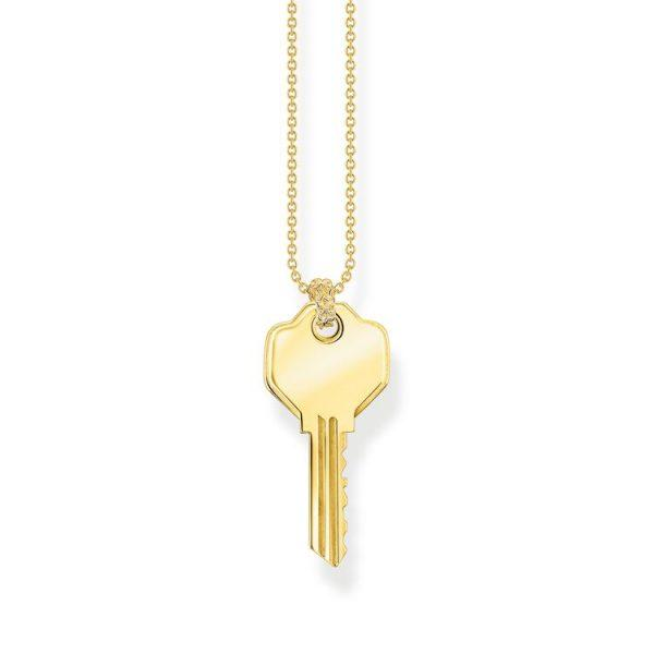 Thomas Sabo Halsband Detaljerad Nyckel Guld